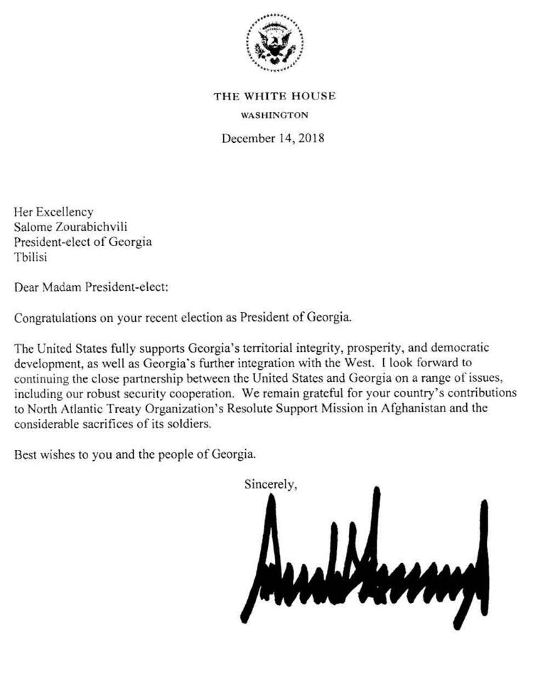 რა თქვა დონალდ ტრამპმა საქართველოს შესახებ, პრეზიდენტობის 4 წლის განმავლობაში